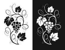 Grapes Decorative Pattern.