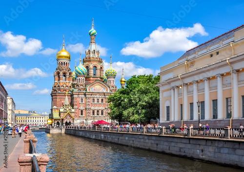 Church of the Savior on Spilled Blood, St. Petersburg, Russia Billede på lærred