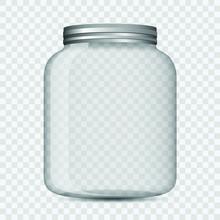 Glass Jar Isolated Vector Desi...