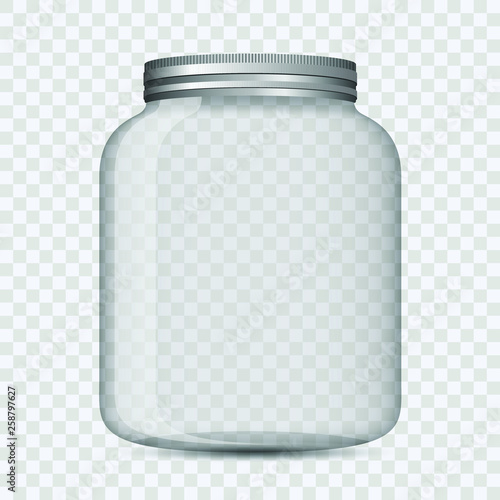 Glass jar isolated vector design illustration Fototapeta