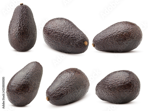 Fotografie, Obraz  avocado, clipping path, isolated on white background full depth of field