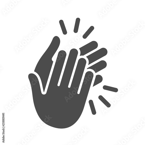 Fotografía Hands clapping icon. Vector