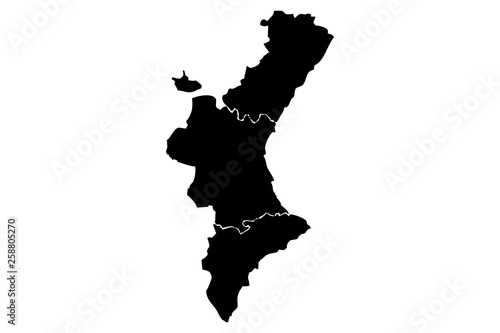 Mapa negro de Valencia.