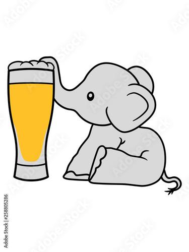 Valokuvatapetti elefant bier saugen alkohol trinken durst betrunken party saufen oktoberfest gla