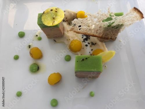 Photo  assiette de foie gras