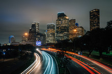 Long Exposure Of Traffic On Al...