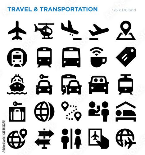 Travel Vector Icon Set Fotobehang