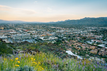 View Of Palm Springs At Sunset...