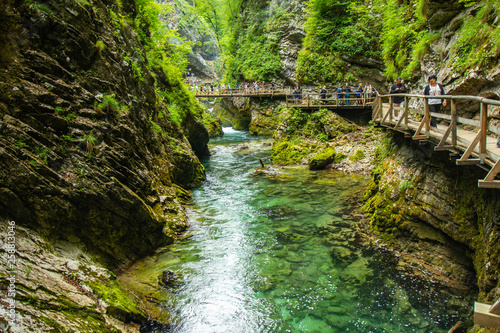 Fotografia, Obraz The Vintgar Gorge or Bled Gorge is a walk along gorge in northwestern Slovenia