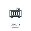 quality icon vector from hardware collection. Thin line quality outline icon vector illustration.