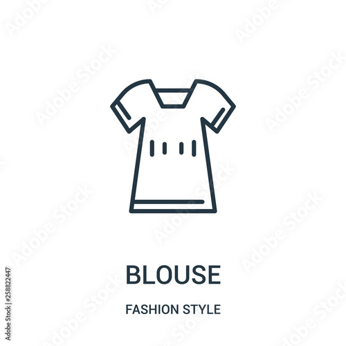 Photo blouse icon vector from fashion style collection