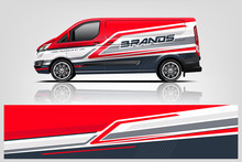 Van Wrap Design For Company, Decal, Wrap, And Sticker. Vector Eps10 - Vector