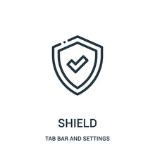 Shield Icon Vector From Tab Ba...