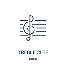 Treble Clef Icon Vector From M...