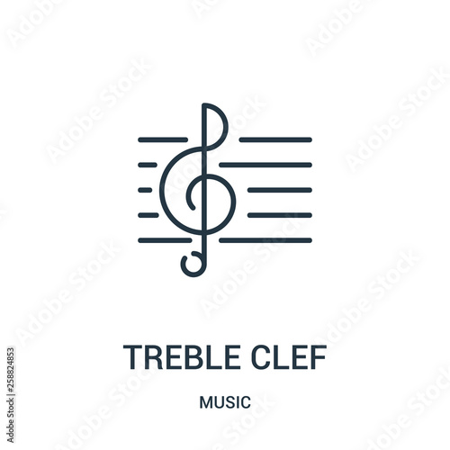 treble clef icon vector from music collection Fototapeta