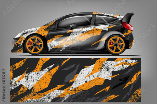 Fotografía Car wrap design vector, truck and cargo van decal