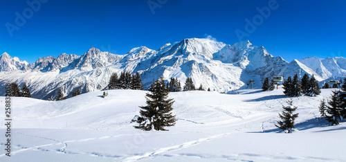 France - Mont-blanc (vu du Prarion) Fototapet