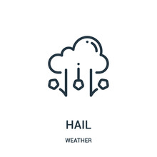 Hail Icon Vector From Weather ...