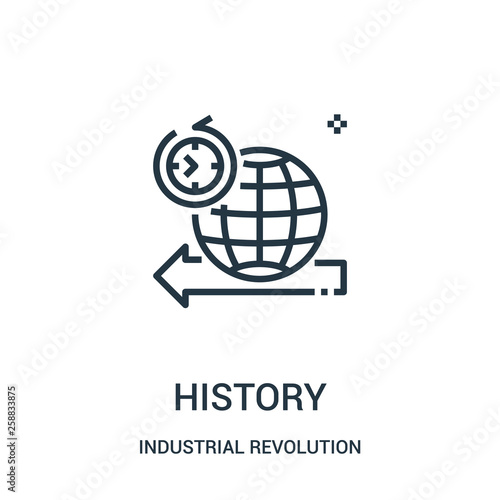 Foto  history icon vector from industrial revolution collection