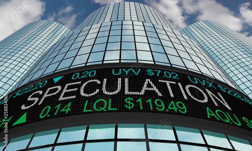 Fotografía  Speculation Investors Speculation Stock Market Ticker 3d Illustration