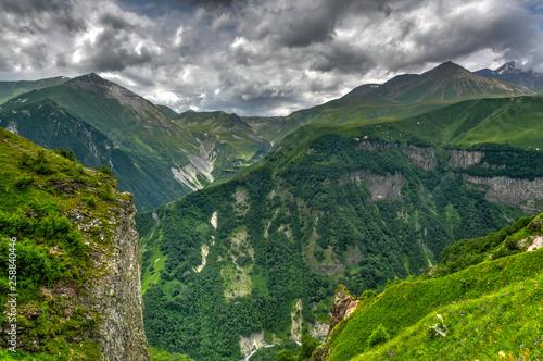 Fototapety, obrazy: Mountain Panorama - Kazbegi, Georgia