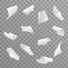 Blank Paper Sheet 3d Curl Flyi...