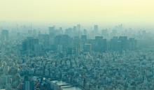 上空から見た都会の景色