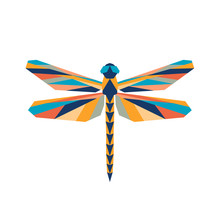 Geometric Polygonal Dragonfly....