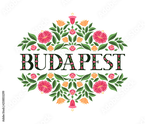 Budapest, Hungary illustration vector  Background with