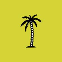 PALM TREE YELLOW BACKGROUND