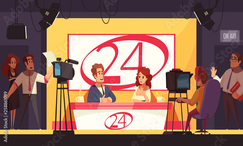 Fényképezés  News TV Channel Illustration
