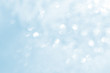 Abstract natural bokeh background in white and blue colors