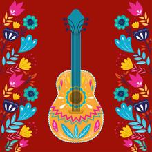 Cinco De Mayo Card With Guitar...