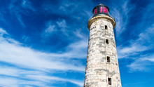Havana Cuba. Close Up Of The Iconic Lighthouse Of El Morro, A Symbol Of The City.