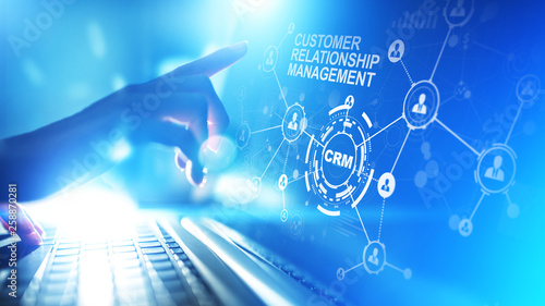 canvas print motiv - WrightStudio : CRM - Customer relationship management automation system software. Business and technology concept.