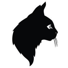 Cute Cat Silhouettes Head