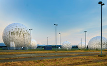Panorama Of Former US Army Security Agency Radome Station (Hortensie III) In Bad Aibling, Bavaria, Germany. Now It Is A Technology Park.