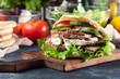 Doner kebab - fried minced meat in pita bread