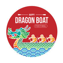 Happy  Dragon Boat Banner With...