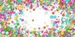 Colored Carnaval Confetti Background with Geometric Shapes