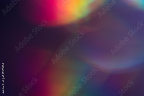 Canvas Print Purple bokeh dark spots