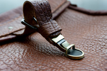Buckle On Leather Bag