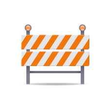 Road Barrier Flat Vector Icon