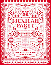 Mexican Party Announce Poster ...