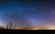 starry sky at night in the steppes of the Rostov region, Russia