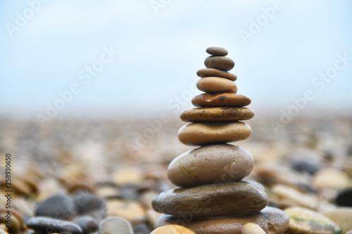 Foto op Aluminium Stenen in het Zand torre de piedras
