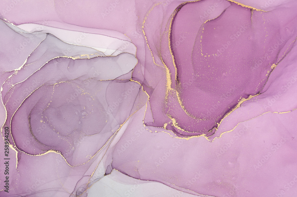 Fototapety, obrazy:  Abstract colorful background, wallpaper. Mixing acrylic paints. Modern art. Marble texture. Alcohol ink colors  translucent