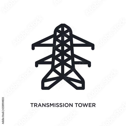 Valokuva  black transmission tower isolated vector icon