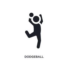 Black Dodgeball Isolated Vecto...