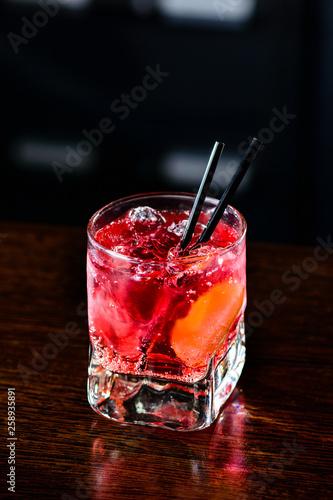 Photo  pink Cocktail El Diablo